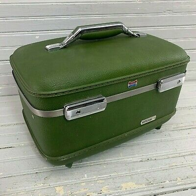 American Tourister Vintage Hardshell Luggage Suitcase Carry On Small Green