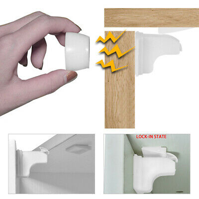 Invisible Magnetic Safety Locks Kid Pet Cupboard Drawer Anti-Pinch Lock Catch