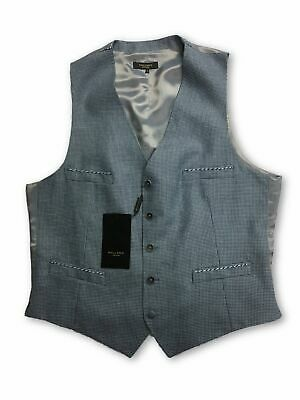 Holland Esquire waistcoat in blue dogtooth design 44R