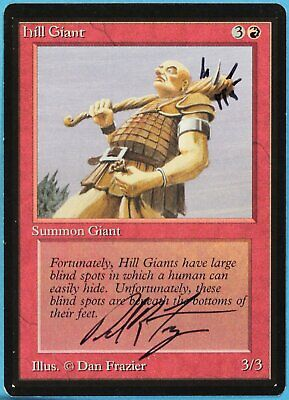Beta NM Artist Signed Altered CARD Mountain C Dark Red sa5219 ABUGames