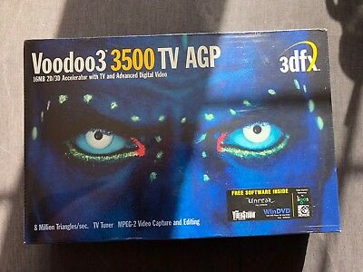 3dfx Voodoo 3 3500 AGP 16mb Graphics Card - New Sealed in box