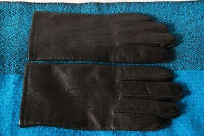Mens Soft Black Leather Dress Gloves Thinsulate Lined 40 Gram Medium