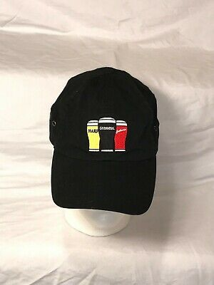 Guinness Harp Smithwicks Beer Hat Cap Adjustable One Size Three Beers Strong