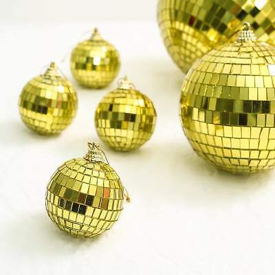 Gold Groovy Glass Mirror Disco Ball Party Decoration for Wedding Events
