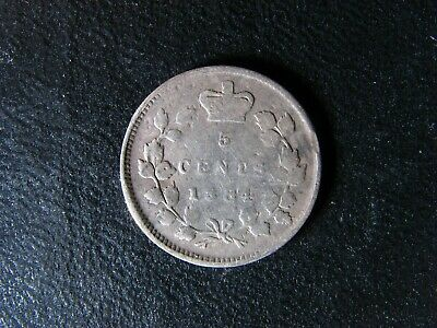 5 cents 1884 Canada small silver coin Queen Victoria c ¢ VG-8