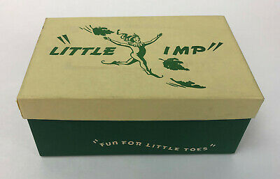 vintage LITTLE IMP JUVENILE LITTONIAN SHOES ADVERTISING BOX 1940s