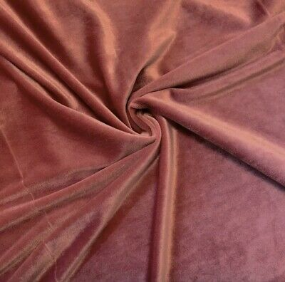 """Stretch Dk Mauve Velvet Costume / Craft Dress Fabric 58"""" Wide Sold By The Yard"""