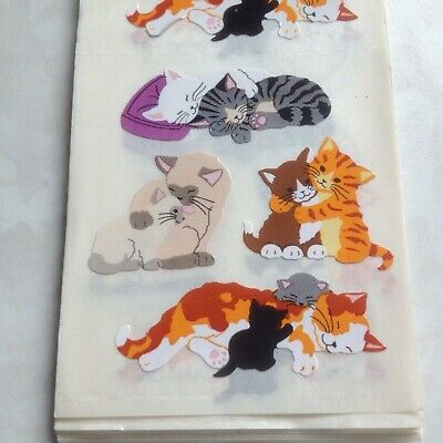 Sandylion TINY CATS KITTENS Stickers 1 SQUARE RARE VINTAGE NEW