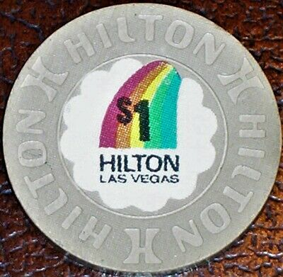 Old $1 HILTON Casino Poker Chip Vintage Antique House Mold Las Vegas NV 1992