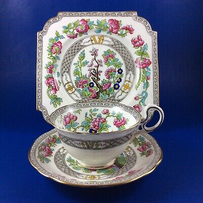 Aynsley India Tree-style Bone China Tea Cup Saucer and Dessert Plate Trio