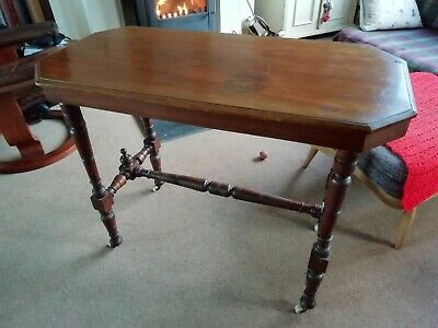 Antique Victorian Mahogany Hall Console Side Table C.1890 ~ 91cm w x 71 h x 44 d