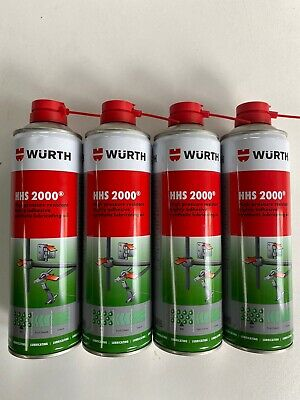 ***4 X 500ml GENUINE WÜRTH HHS 2000 HIGHLY ADHESIVE SYNTHETIC LUBRICATING OIL***