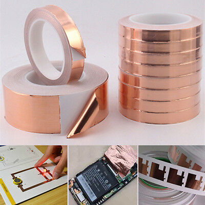 4 Lengths Useful Copper Foil Tape Conductive Self Adhesive Heat Insulation CB