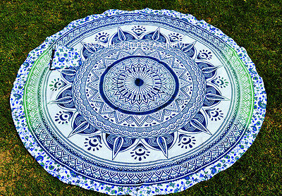 Hippie Ombre Mandala Tapestry Indian Cotton Wall Hanging Beach Throw Yoga Mat