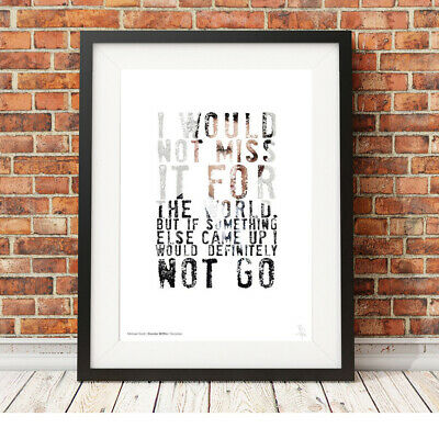 MICHAEL SCOTT invite quote ❤ The Office US ❤ poster art LIMITED EDITION PRINT#31