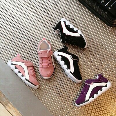 Children Kids Girls Boys Flock Flat Sport Running Trainers Casual Sneakers Shoes
