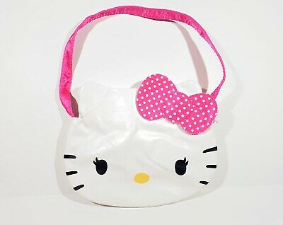 Hello Kitty Sanrio Girls White Face Pink Bow & Strap Purse Handbag
