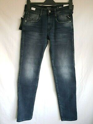"""REPLAY Jeans ANBASS M914Y Skinny Jeans /""""10 Years aged/"""" Destroyed /& Repaired NEU"""