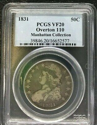 1831 PCGS VF 20 Capped Bust Half Dollar Overton 110 in Very Fine 20