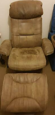 Vivin Leather Recliners With F/ Stules x2