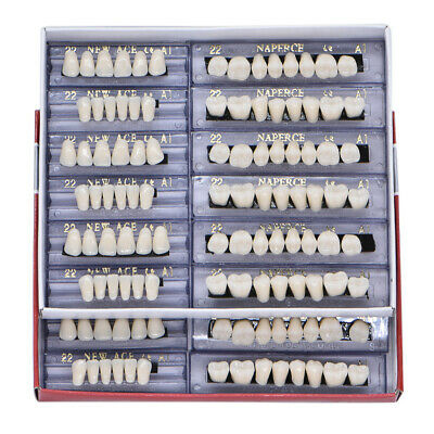 168pc Dental Acrylic Resin Teeth Denture 22# A1 Full Set Teeth Upper Lower Shade