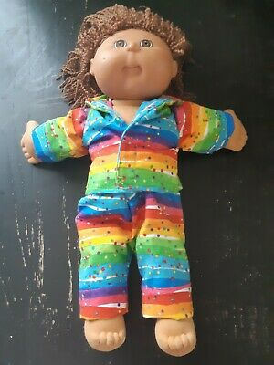Homemade Cabbage Patch Doll Coloured Rainbow Pyjama Set