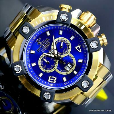 Invicta Reserve Grand Octane Arsenal 2 Tone Steel 63mm Swiss Mvt Blue Watch New