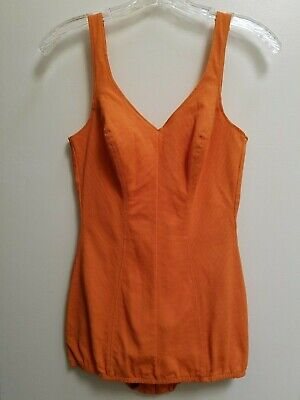 Vintage 1960's Orange One Piece CATALINA SWIMSUIT  Pin Up Part of the Art of Eve