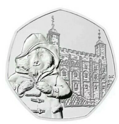 2019 Paddington Bear 50p Fifty pence Coin Tower Of London (uncirculated)