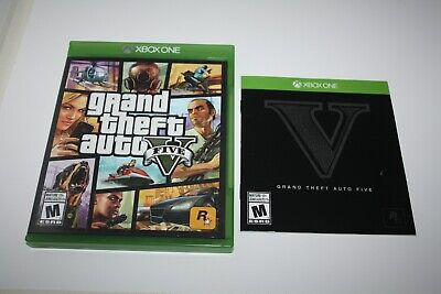 xbox one Grand theft auto 5 original case replacement and manual only, no game