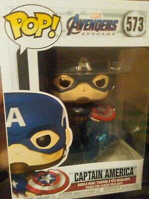 Funko Pop! Marvel Endgame Captain America w/ Shield and Mjolnir