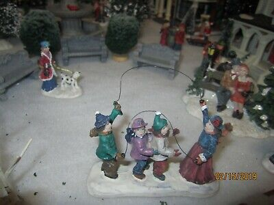 """TRAIN GARDEN VILLAGE HOUSE CARNIVAL """" The DOUBLE JUMP ROPE """" +DEPT 56/LEMAX info"""