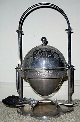 Antique Victorian ROGERS SMITH & Co. ~ BUTTER DISH Silverplate COVERED DOMED
