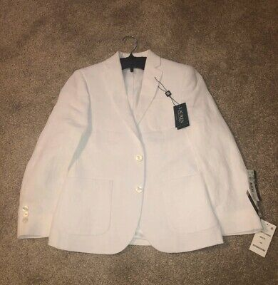 Ralph Lauren Boys Blazer 10 Regular White Linen