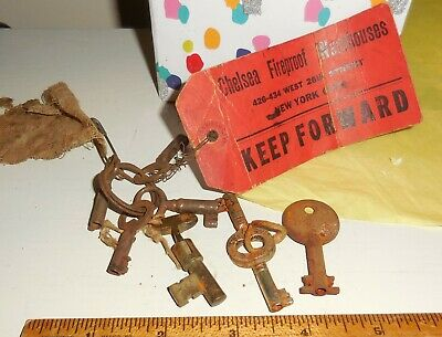 Collectibles Rusty Keys 1800's WithTag Steampunk Lot