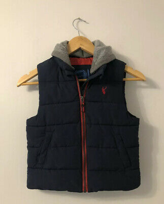 Blue Zoo Boys Navy Padded Gilet Age 4-5 Years