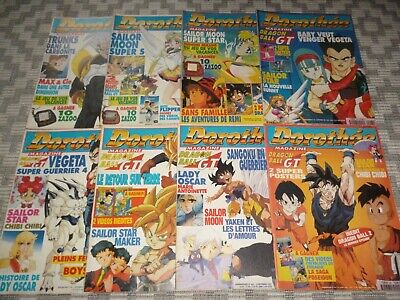Lot 8 magazines CLUB DOROTHÉE, entre No 411 et 436, DRAGON BALL GT, SAILOR MOON