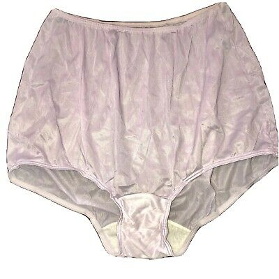 Vintage Sears Nylon Tricot Briefs Purple Semi Sheer Hi Waist Sz 8 Large Mushroom