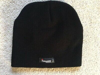 Boys Thinsulate Black Hat Age 11-13