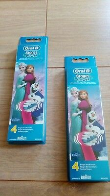Genuine Kids Oral B Electric Toothbrush Stages Disney Frozen Refill Heads x8  UK