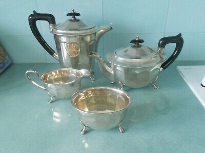 Antique / Vintage Sheffield Silver Plated Tea Set - Bakelite Handles & Paw Feet