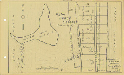 Palm Beach Atlas Sheet #33 Billionaires Row E F Hutton Property