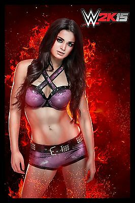 Paige (red flames)  WWE 24 x 36 Poster