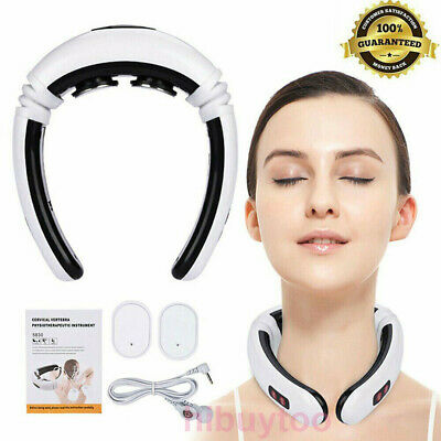 Electric Cervical Neck Pulse Massager Body Shoulder Muscle Relax Relieve Pain