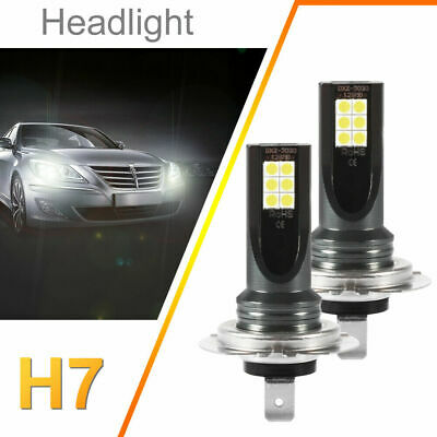 2x H7 CREE LED 6000K 220W 12SMD Super Bright DRL Brouillard Phare Ampoule LD1850