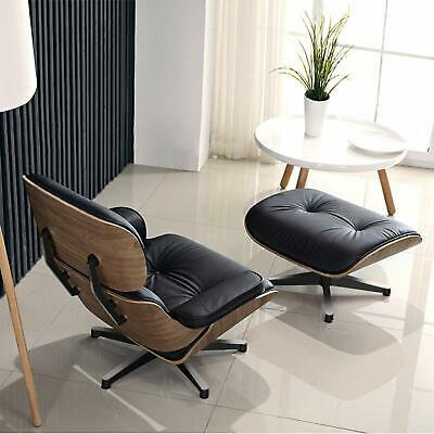 EAMES Plywood Lounge Chair and Ottoman WALNUT Premium PU Leather REAL Leather