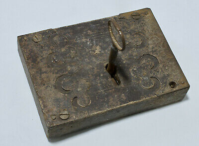 Antique Large Rim Lock Working with key in un-restored condition