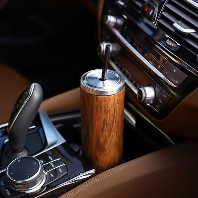 Cupture Stainless Steel Skinny Insulated-Tumbler Car Cup with Lid Reusable Straw