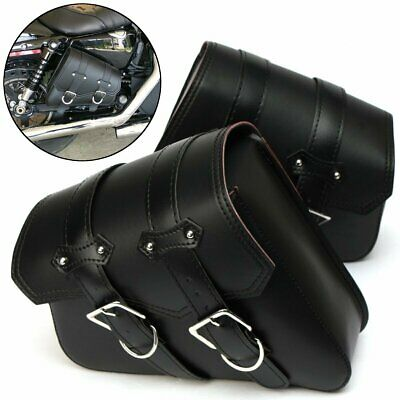 Paire Moto Selle Sacoche Latérale Sac Outil pour Harley Sportster XL883 XL1200