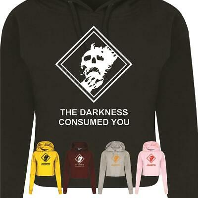 Destiny Ladies Crophood The Darkness Consumed You Zone Printed Womens Hoodie